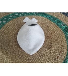 Bavoir bandana paon gris
