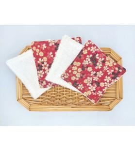 lingettes lavables fleur
