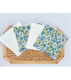 lingettes lavables fleurs...