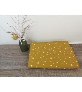 tissus coton moutarde